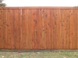 Side-by-side wide-plank fence photo