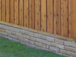 Dry-stack retaining wall photo