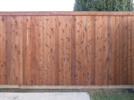 Side-by-side standard-plank fence photo